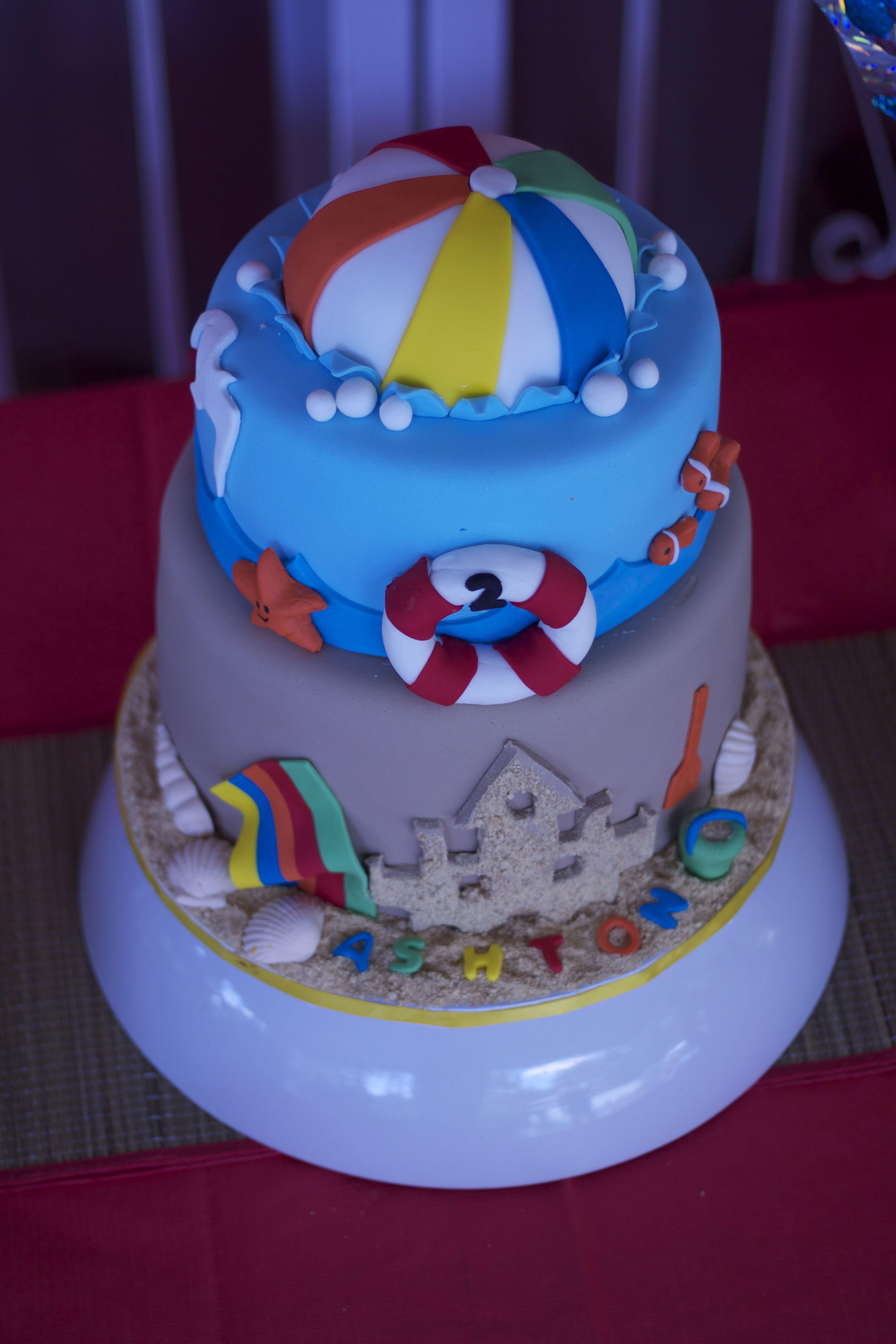Beach ball cake | Ashton's 2nd Birthday | Pinterest ...