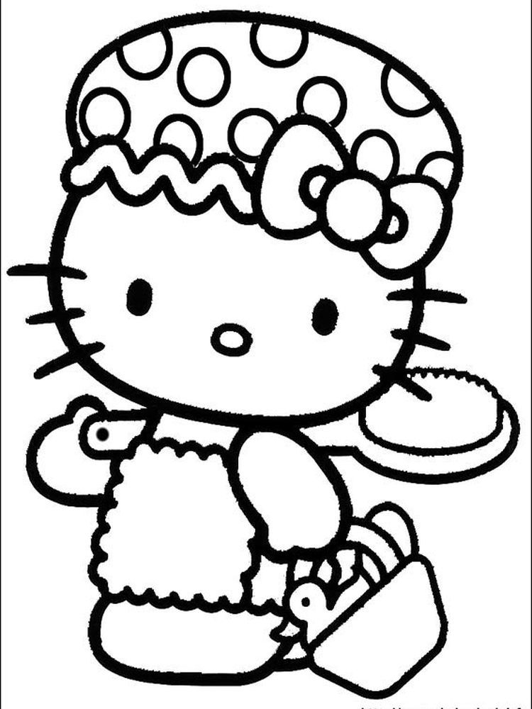 Hello Kitty Coloring Pages Online Coloring When We First Heard Hello Kitty The First One That Occurred In Our Minds Was A Cute Cat Character That Was Very Ado