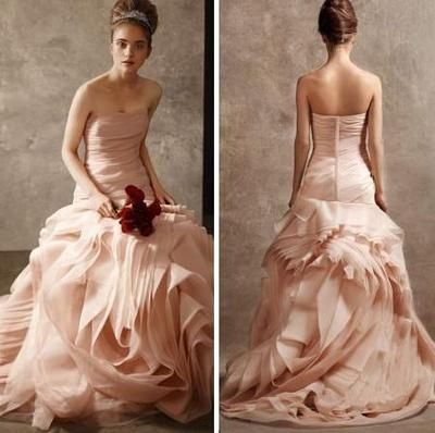Vera Wang Blush Wedding Dress Sarah Chintomby Lockhart But This