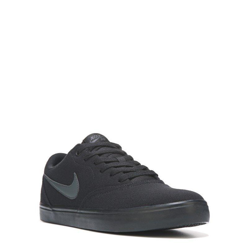 Nike Men S Nike Sb Check Solar Canvas Skate Shoes Black Black Dress Shoes Womens Dress Shoe Bag Nike Sb