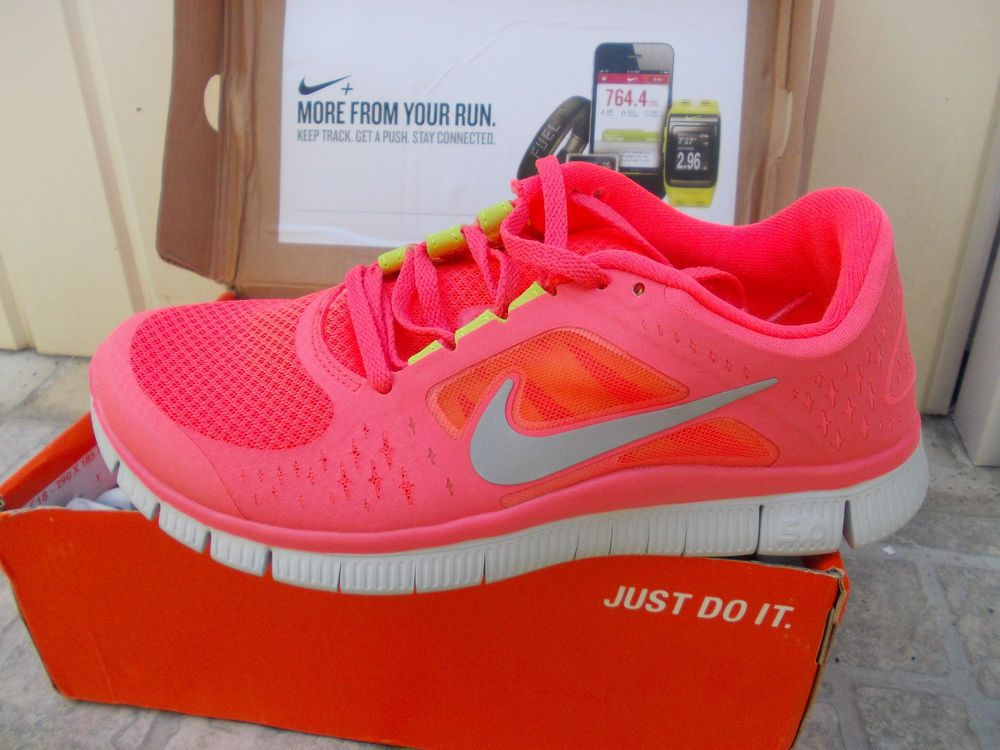 new product aa322 550ad NEW HOT PINK Nike Free Run+3 5.0 women s running shoes