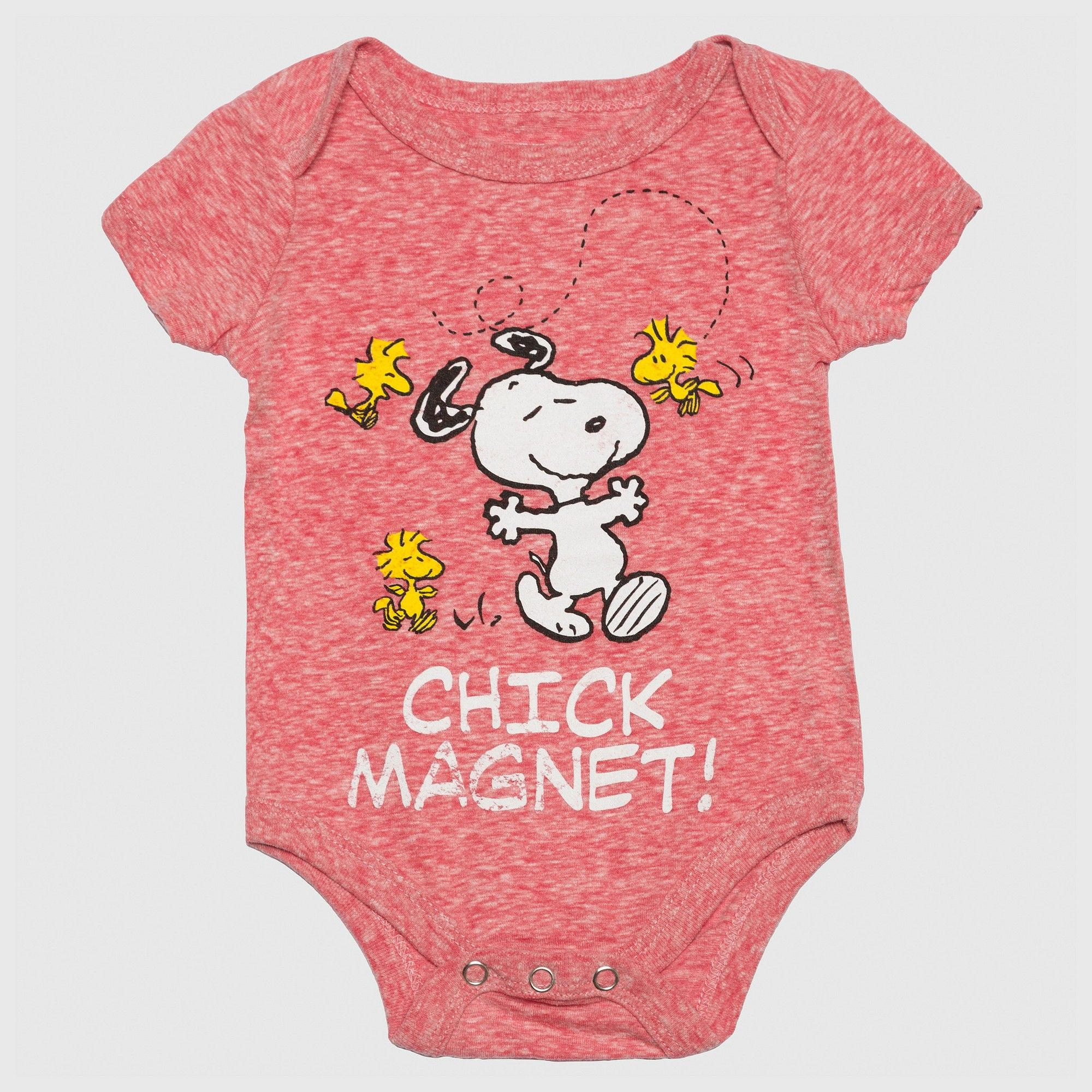 Peanuts Baby Boys Chick Magnet esie Red 3 6M Size 3 6 M