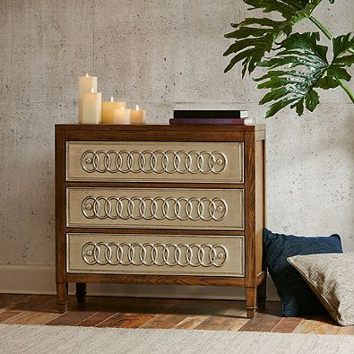 Madison Park® Erding Leaf Rings Chest in Silver | Bed, Bath & Beyond