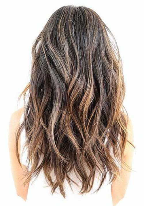 Long Wavy Medium Ash Brown Hair With A Soft Undercut And Short Layers Hair Styles Haircuts For Long Hair With Layers Textured Haircut
