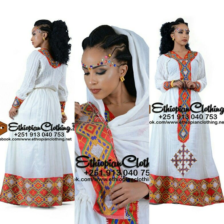 Ethiopian Traditional Clothes Design New Habesha Dress Desi...