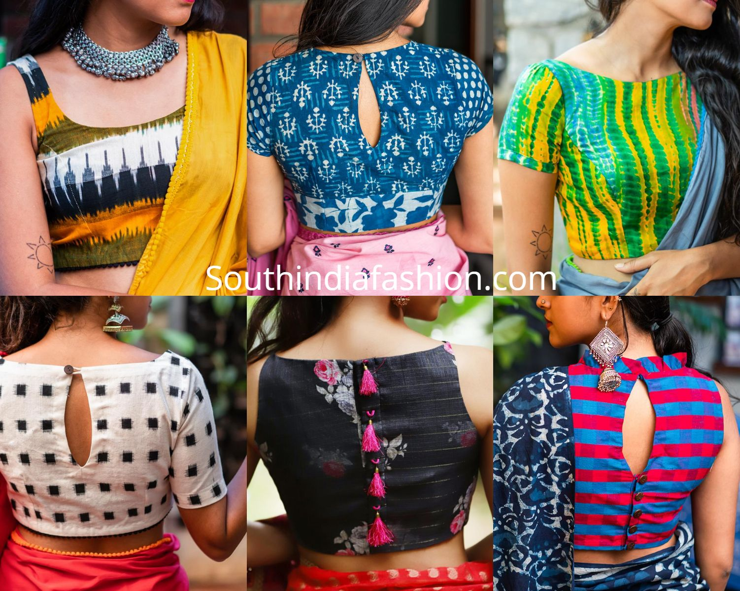 10 Stylish Readymade Cotton Blouse Designs 2019 For Summer
