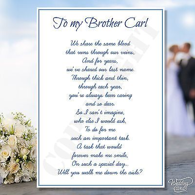 A Bride needs her dad on her wedding day Will you walk me down the aisle.