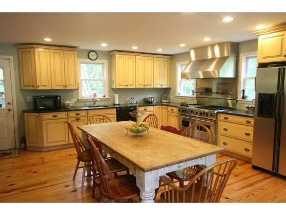 Farm Table in a spacious kitchen