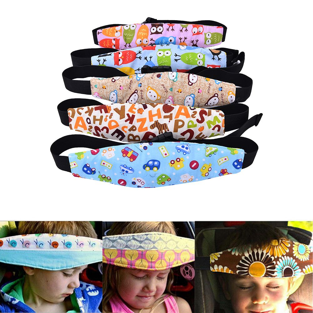 1Pc Safety Kids Baby Stroller Car Seat Sleep Nap Aid Head Fasten Support Belt FI