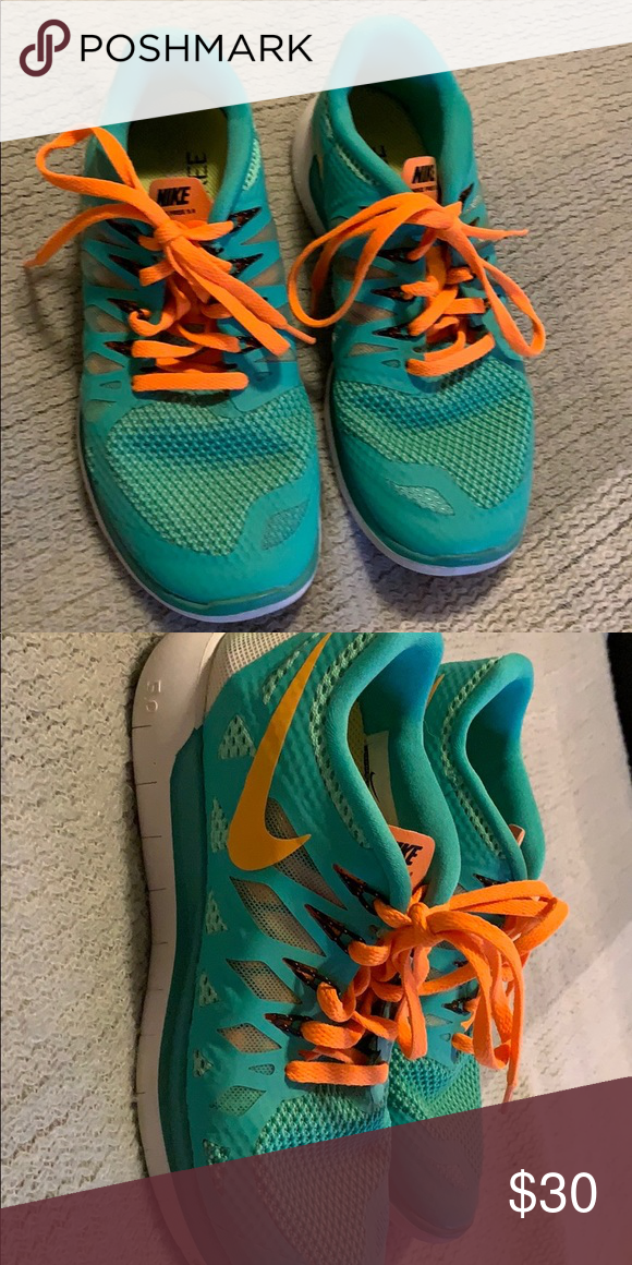 Nike shoes Nike Free sneakers. Teal and