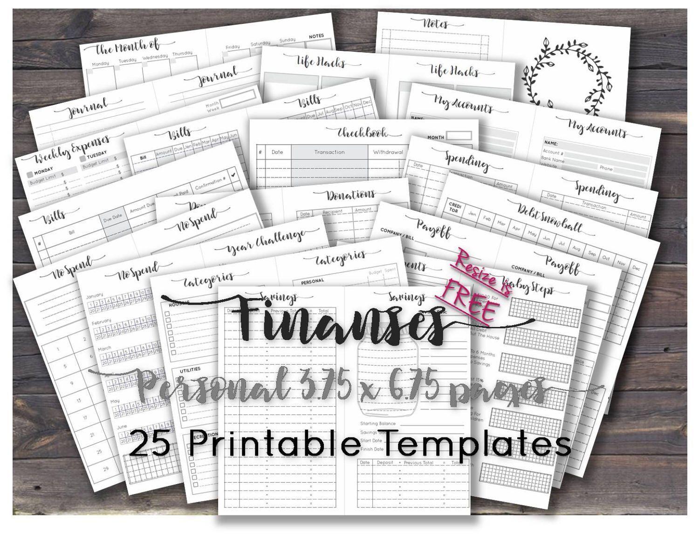 budget journal template