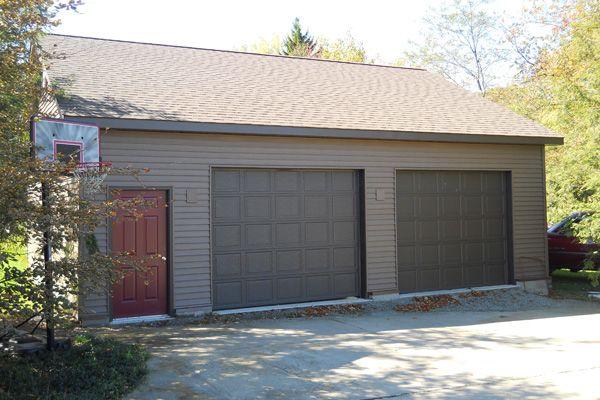 2 Car Garage Front View B Barn Garage Pole Barn Garage Pole Barn Designs