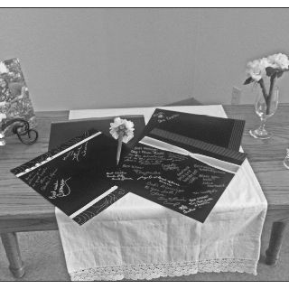 Guest Sign-in Table (scrap booking pages) Erickson/Simonson Wedding 7.7.12