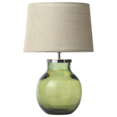 Aldeburgh Recycled Glass Table Lamp Olive Green Table Lamps