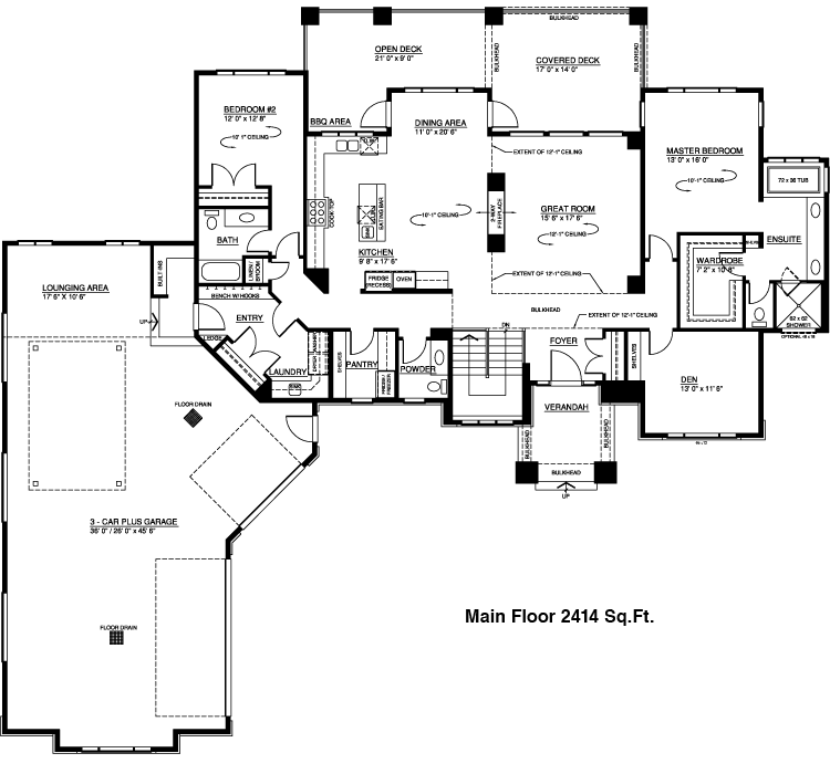 Genesis Custom Home 4333 Sq Ft Walkout Bungalow Ranch House Floor Plans Floor Plans Ranch Custom Home Plans
