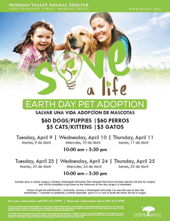 Earth Day Pet Adoption events April 2019 (With images