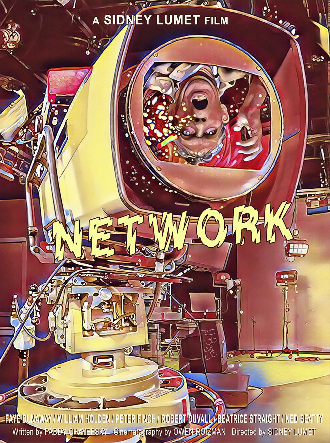 Network (1976) Alternative movie poster created for the