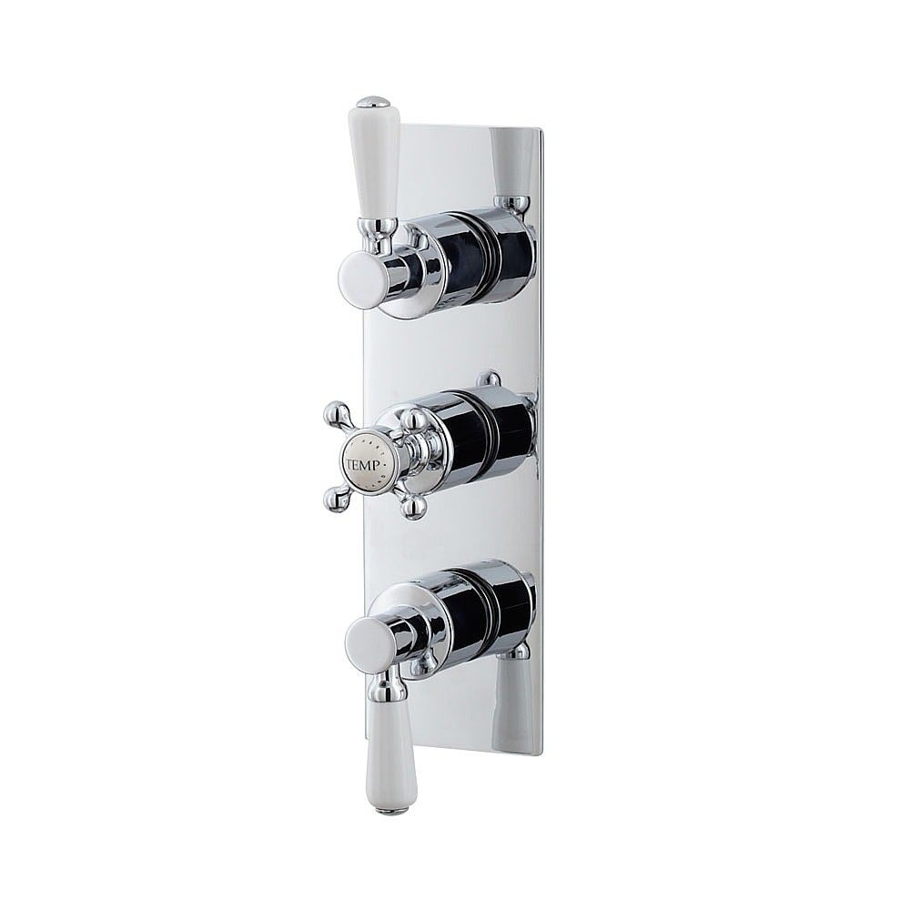 Waterloo Rectangular Triple Control Shower Valve with Diverter (Two Outlets) | Shower Controls | CP Hart