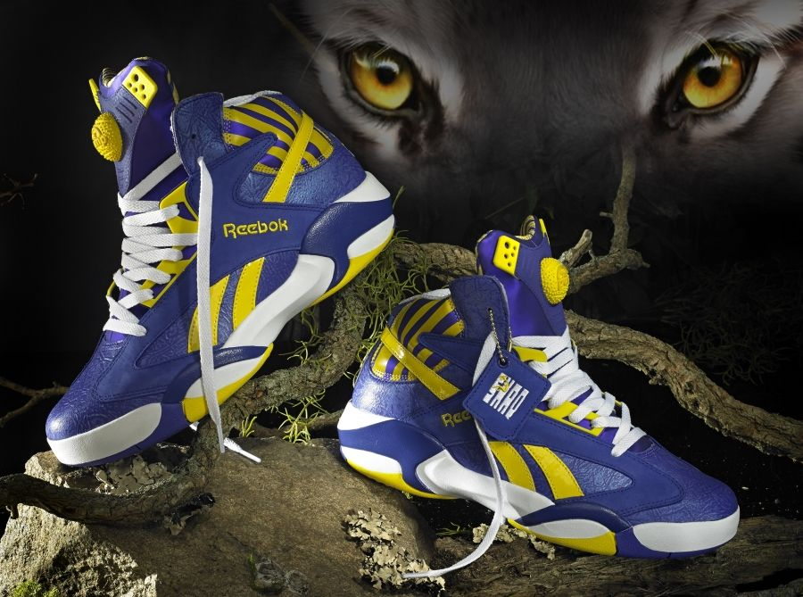 Reebok Shaq Attaq: Purple/Yellow