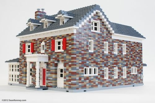 Old stone house a lego creation by sean kenney for Modernes lego haus