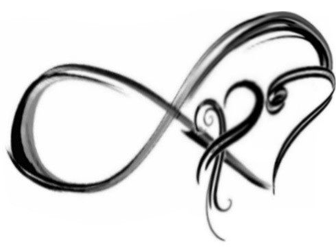 Infinity symbol tattoo with words been impressed with a for Infinity sign coloring pages