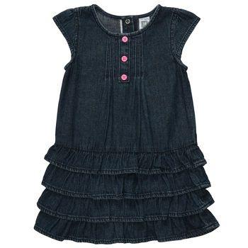 Cap-Sleeve Denim Dress Set