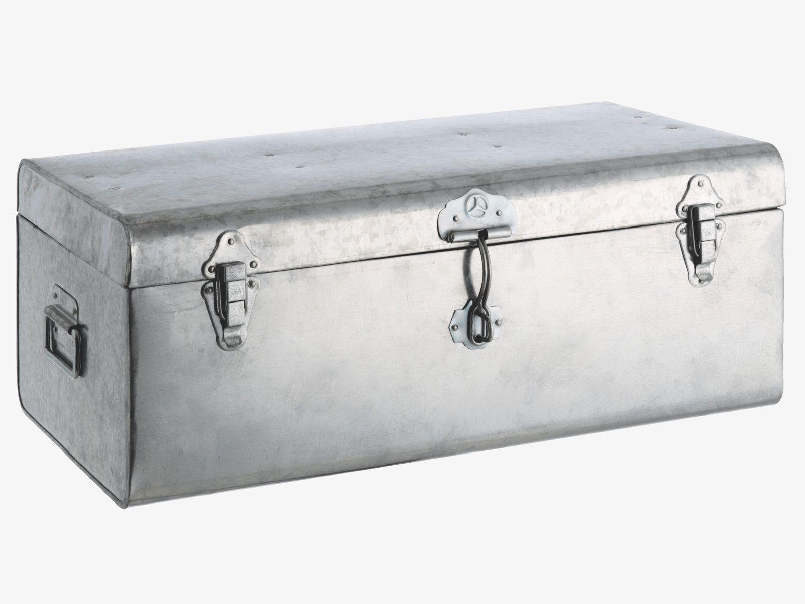 TRUNK METALLICS Metal Large Galvanised Storage Trunk   HabitatUK £40