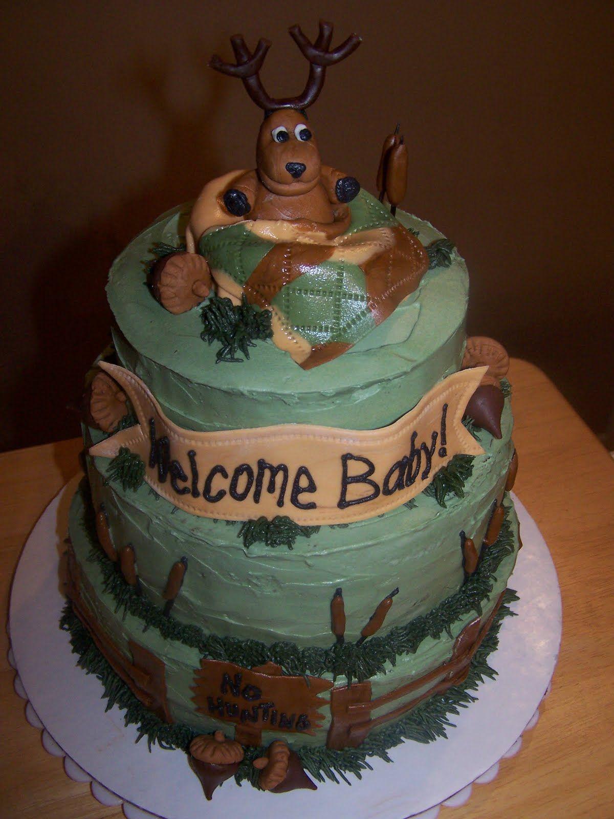 Hunting Baby Shower Cake : hunting, shower, Julie, Cakes:, Hunting, Shower, Camo,, Cakes, Boys,
