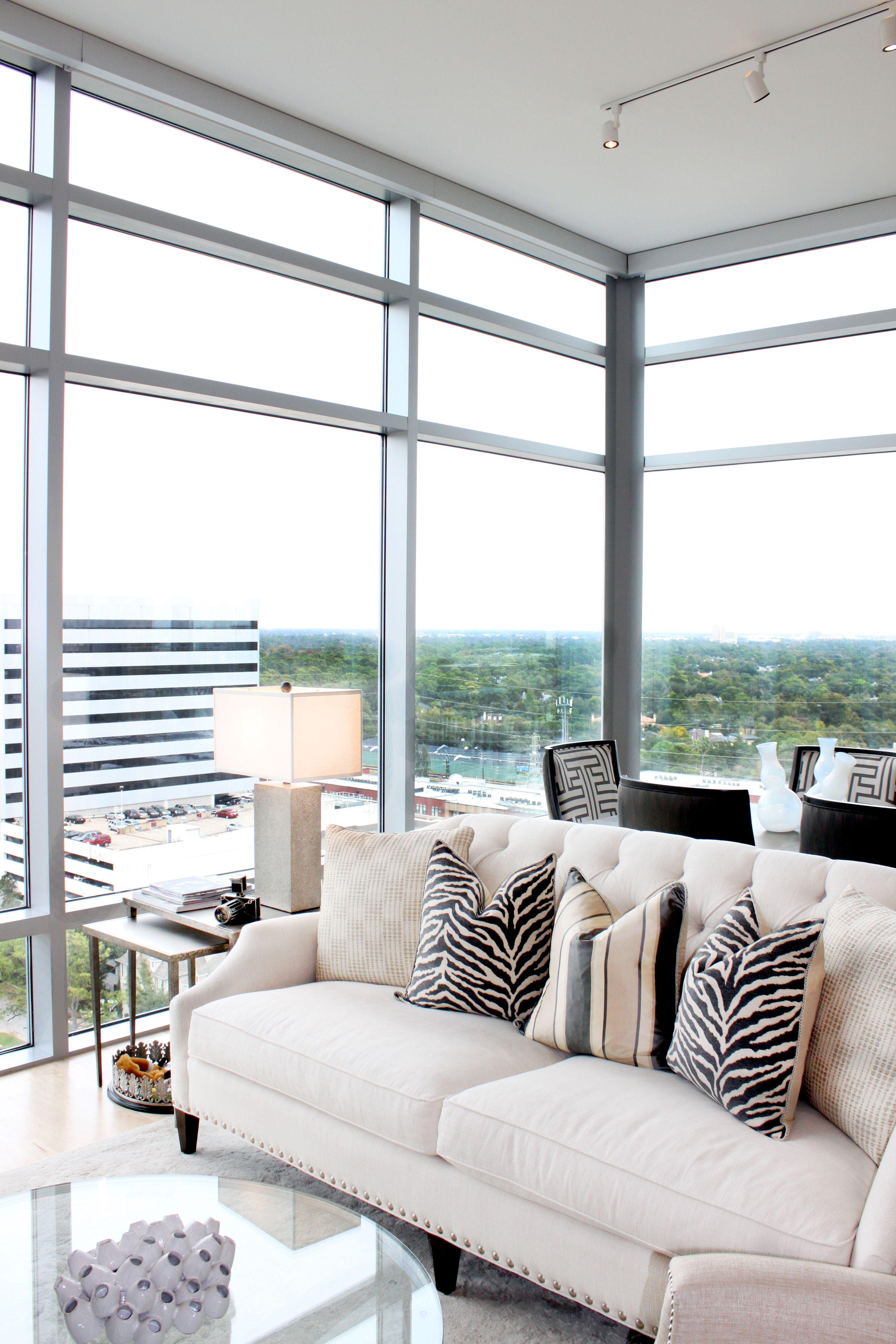 Modern high-rise living room from Design House, Houston TX. | Design ...