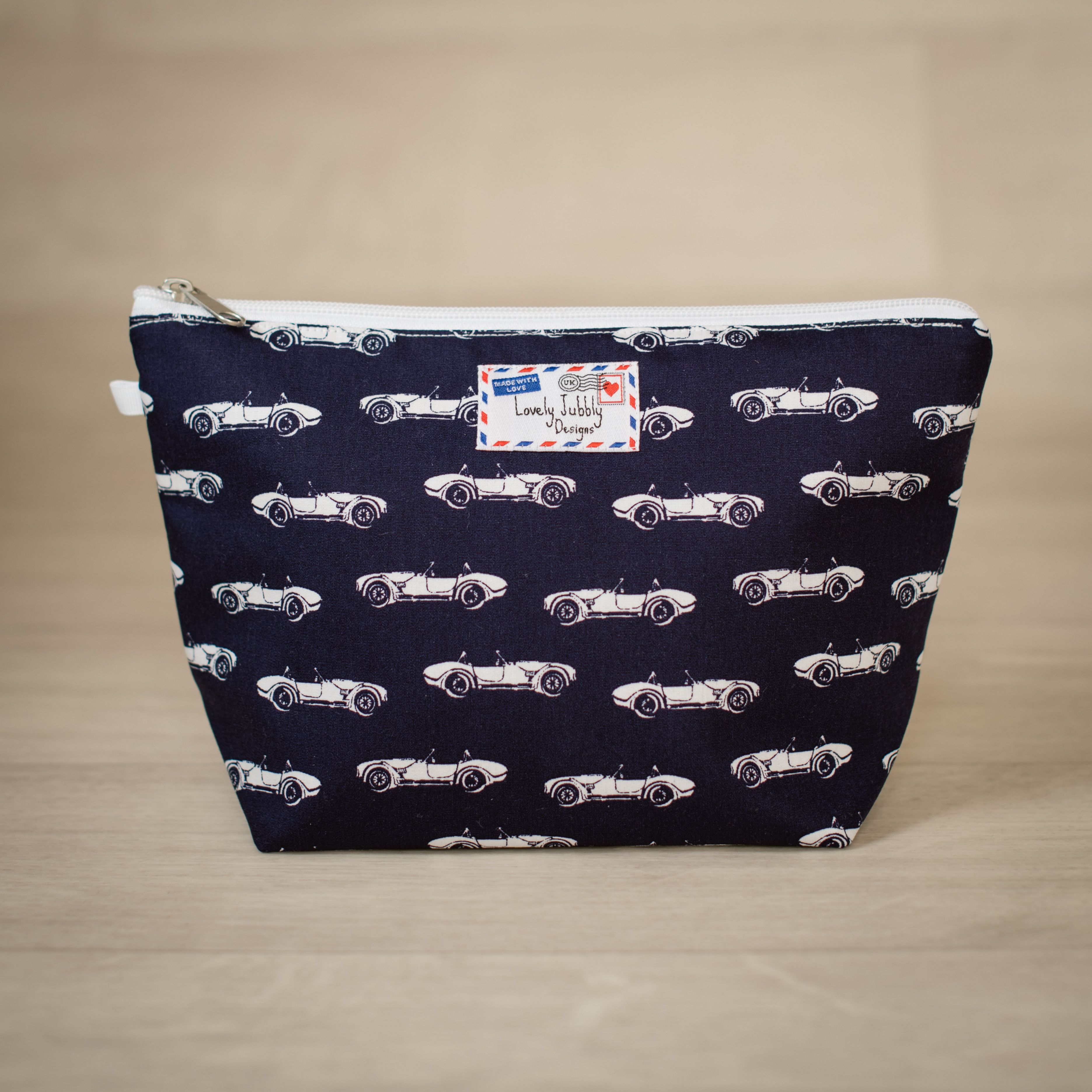 Classic Car Sports Cars Gift Toiletry Makeup Wash Bag