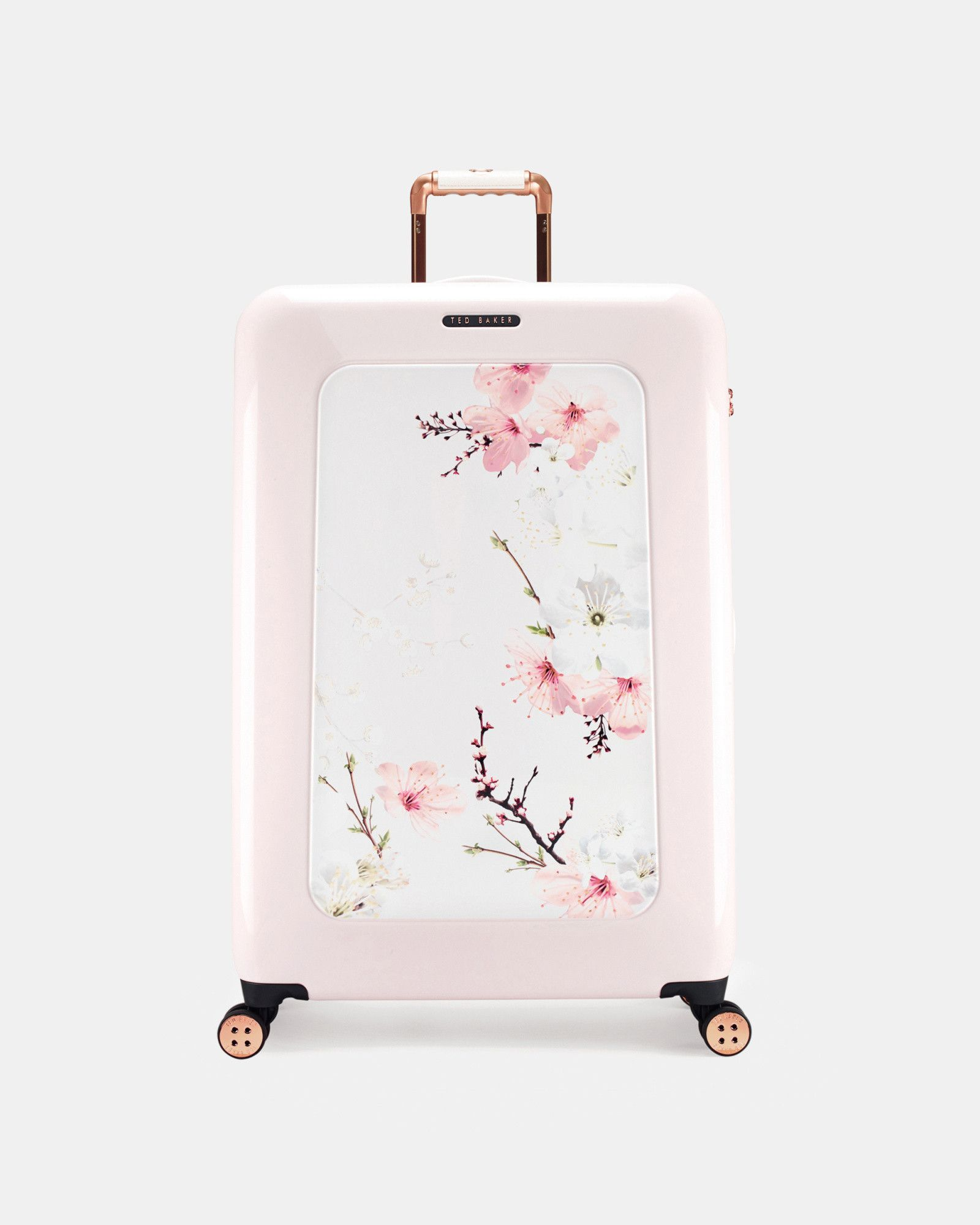 Ted Baker Oriental Blossom large suitcase Baby Pink