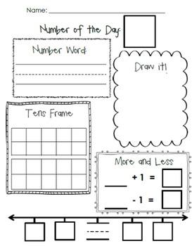 Number of the Day   Math   Preschool math, Teaching math ...