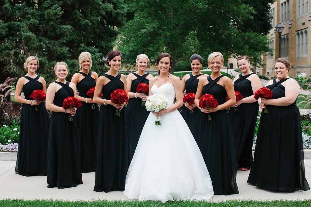 How To Match Your Bridesmaid Dresses With Your Wedding Style Red Wedding Dresses Red Wedding Wedding Bridesmaids Dresses Blue