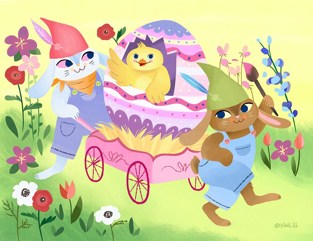Happy Easter Noel Ill Art Easter Illustration Bee And Puppycat Awesome Anime
