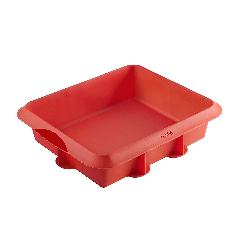 Lekue Baking Square Cake Brownie Pan 8 X 9 5 Red You Can