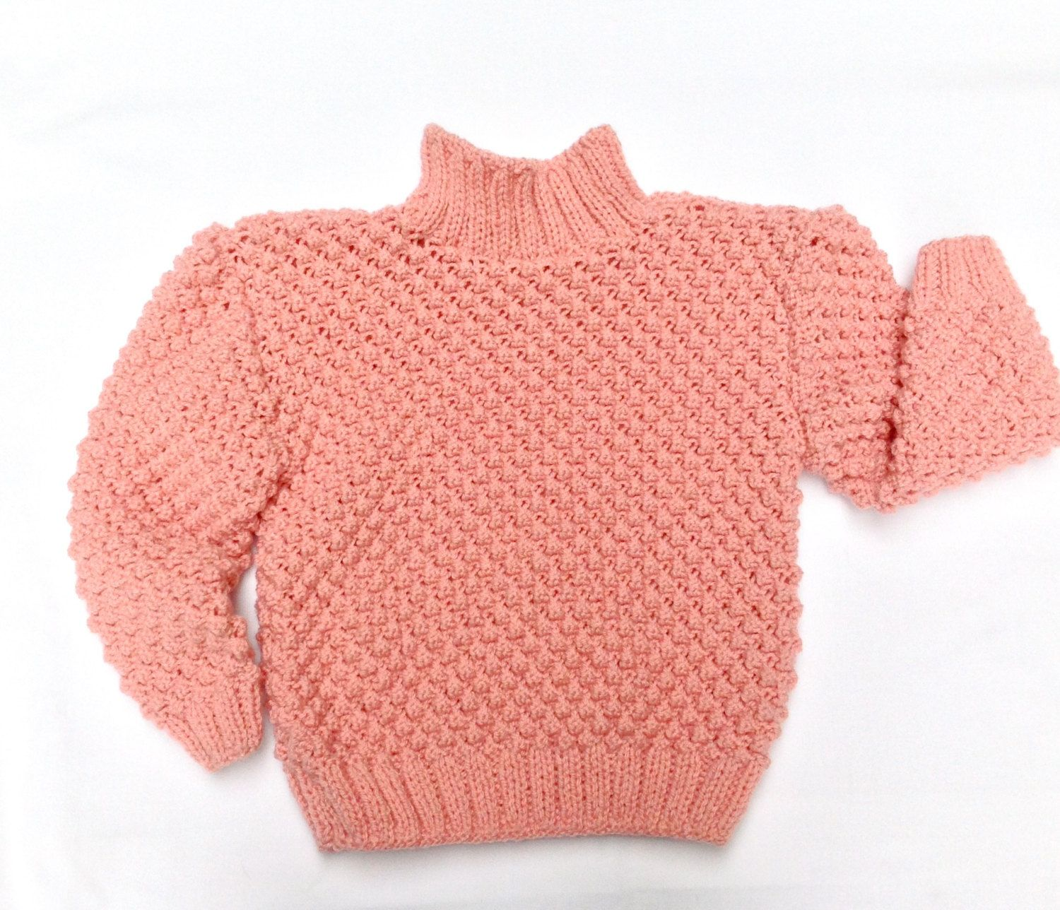 Knit sweater, toddler sweater, pink cardigan, knitted pullover ...