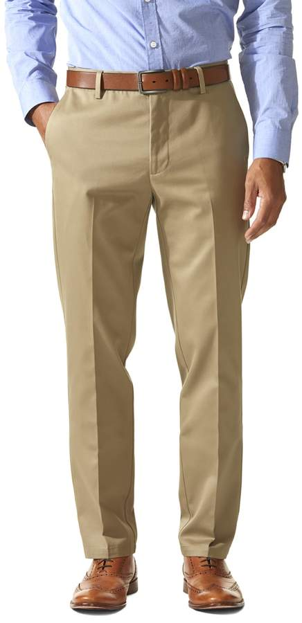 Slim Tapered Flat Front Casual Pants