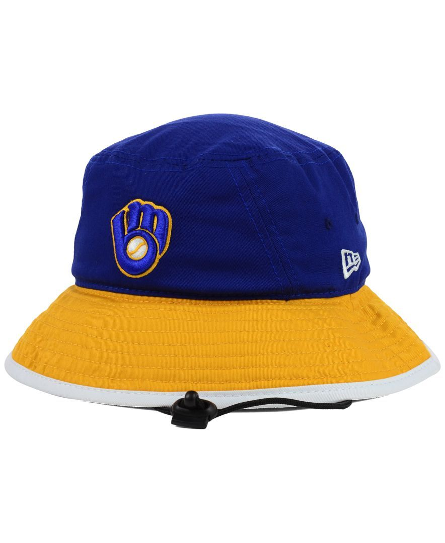 4a44aa0ec2df4 New Era Milwaukee Brewers Tipped Bucket Hat