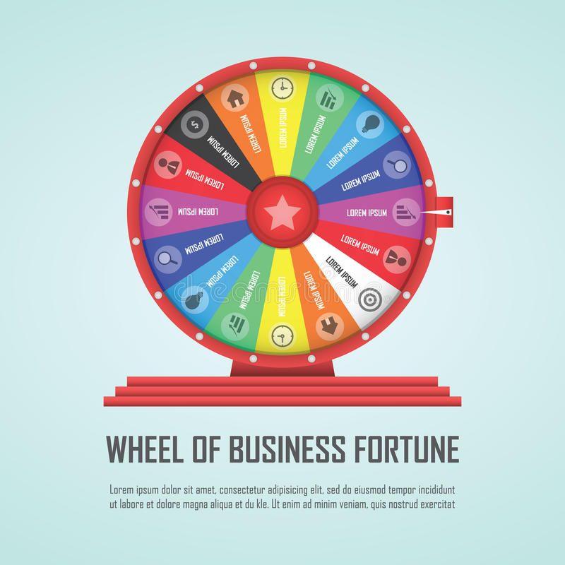 Wheel Of Fortune Infographic Design Element Aff Fortune Wheel Infographic Element Desig Infographic Design Wheel Of Fortune Design Elements Vector