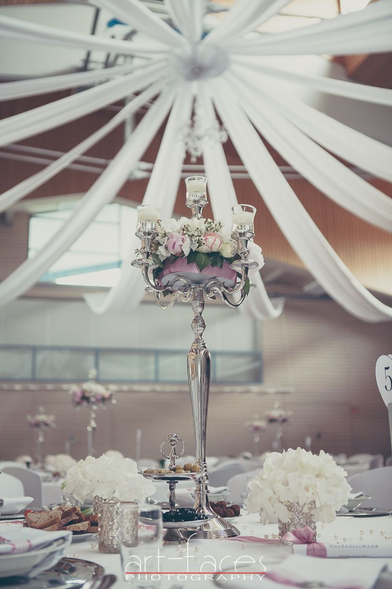 Hochzeit Saal Hussen Tisch Dekoration Kerze Kerzenstander