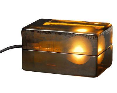 Design House Stockholm Block Lamp Ambre Table Lamp Brown Made In Design Uk Lamp Modern Table Lamp Lamp Design