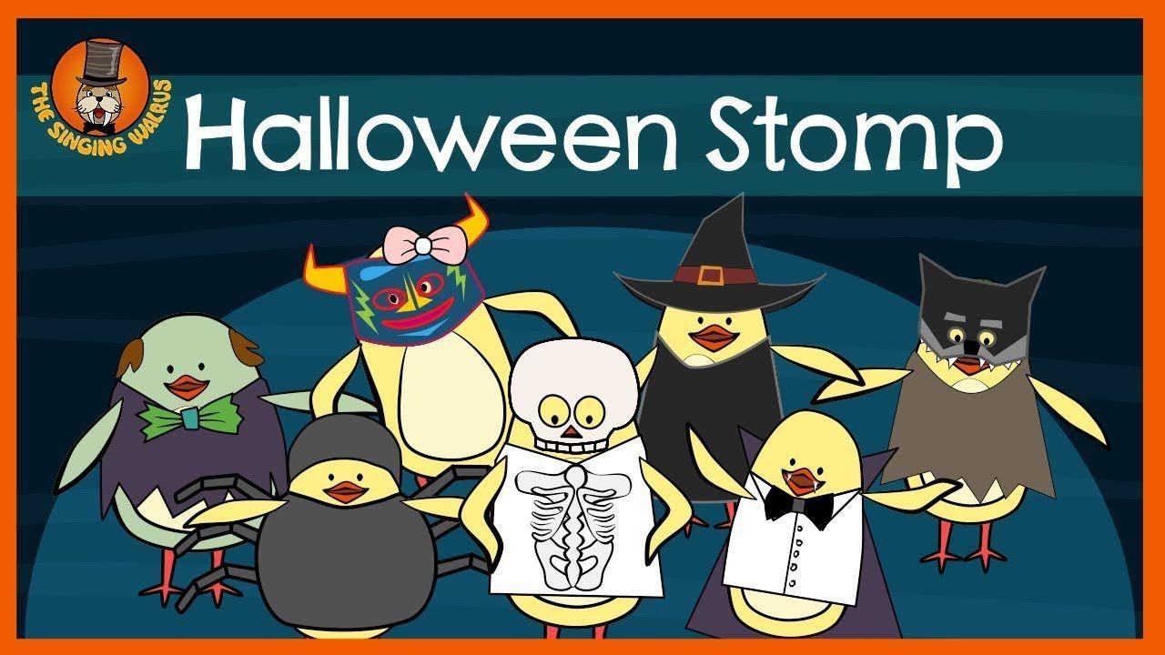Halloween Stomp Halloween Song For Kids The Singing Walrus Youtube Halloween Songs Kids Songs Halloween Music Activities