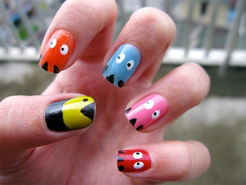 31 Images Of Gorgeously Geeky Nail Art Pinterest Pac Man Nails