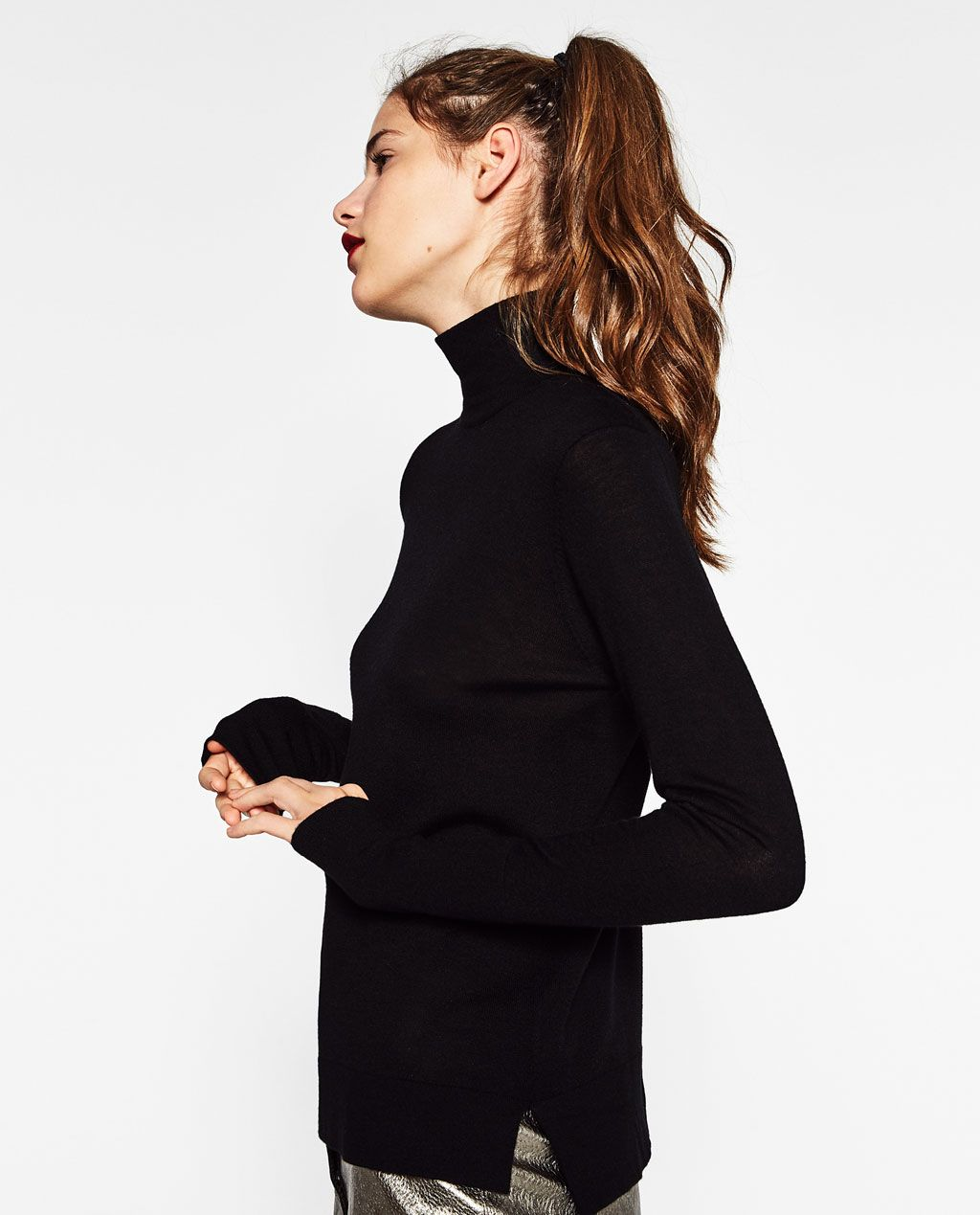 c15888b4 Image 2 of TURTLE NECK SWEATER from Zara. TURTLENECK SWEATER - Available in more  colours ...