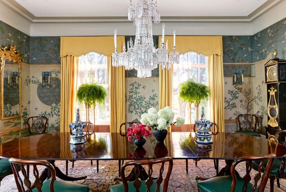 Traditional Dining Room by Michael S. Smith Inc. and Kees & Bowstead in Minneapolis, MN