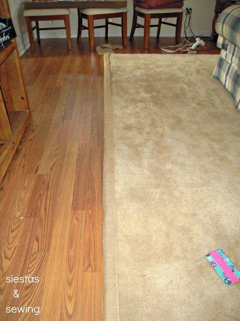 Siestas And Sewing Diy Carpet Binding Diy Carpet Diy Pillows Carpet Remnants