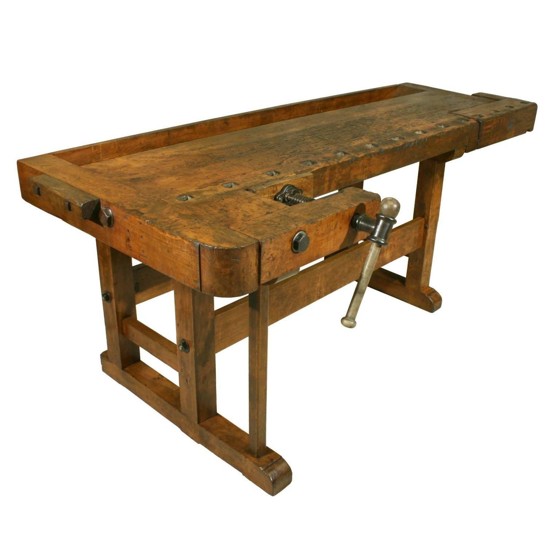 Antique Woodworking Workbench