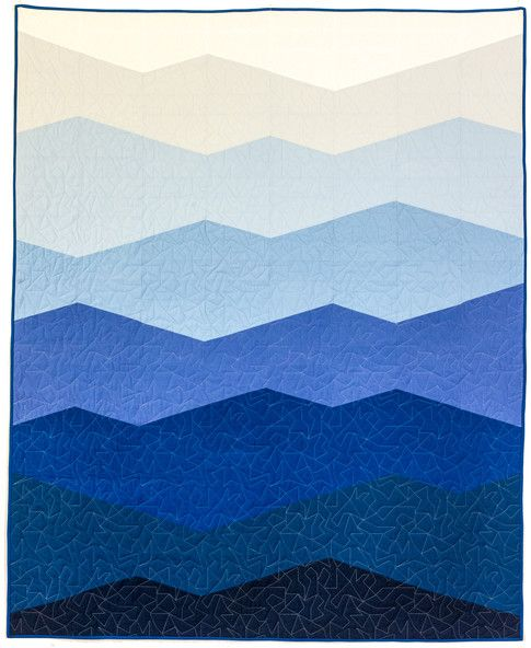 Range designed by modern handcraft features kona cotton for Space mountain fabric