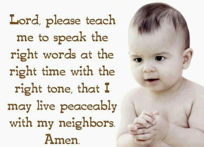 Right time, words and tone.  :-)