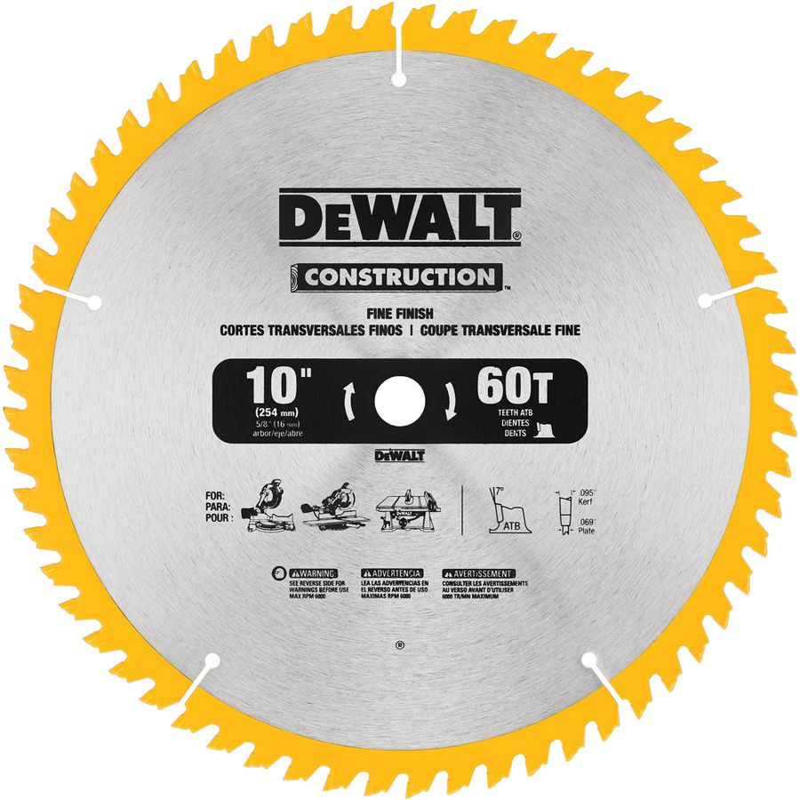 Dewalt 10 In 60 Tooth Carbide Circular Saw Blade Masking Tape To Reduce Tear On Laminate Or Melamine Circular Saw Blades Saw Blade Dewalt